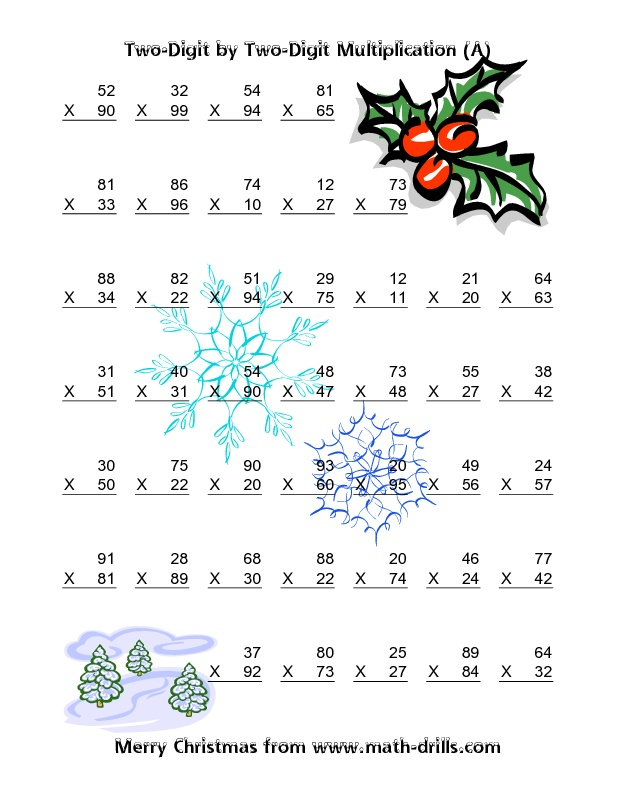 Christmas Math Worksheets For 5th Grade The Best Worksheets Image