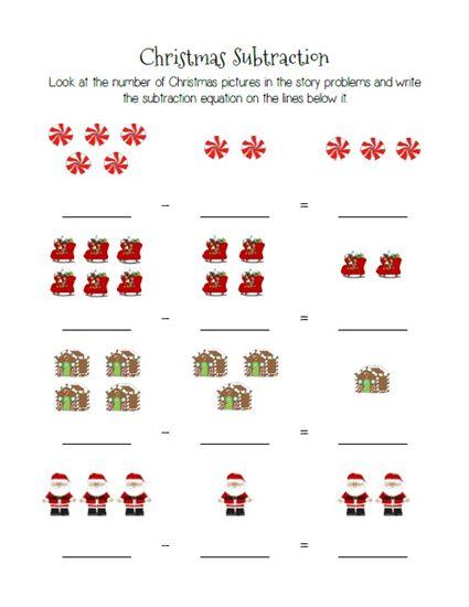 Christmas Subtraction Worksheets For Kindergarten The Best