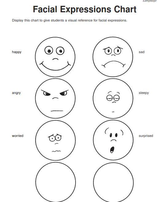 Collection Of Emotions Worksheets For Kindergarten