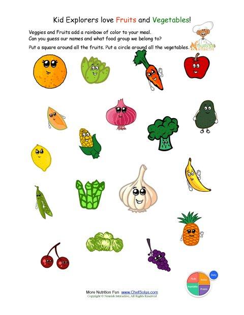 Collection Of Free Worksheets Vegetables Kindergarten