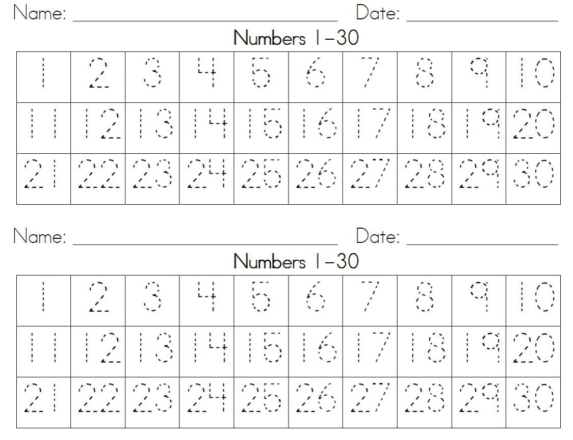Collection Of Handwriting Worksheet Numbers 1 20