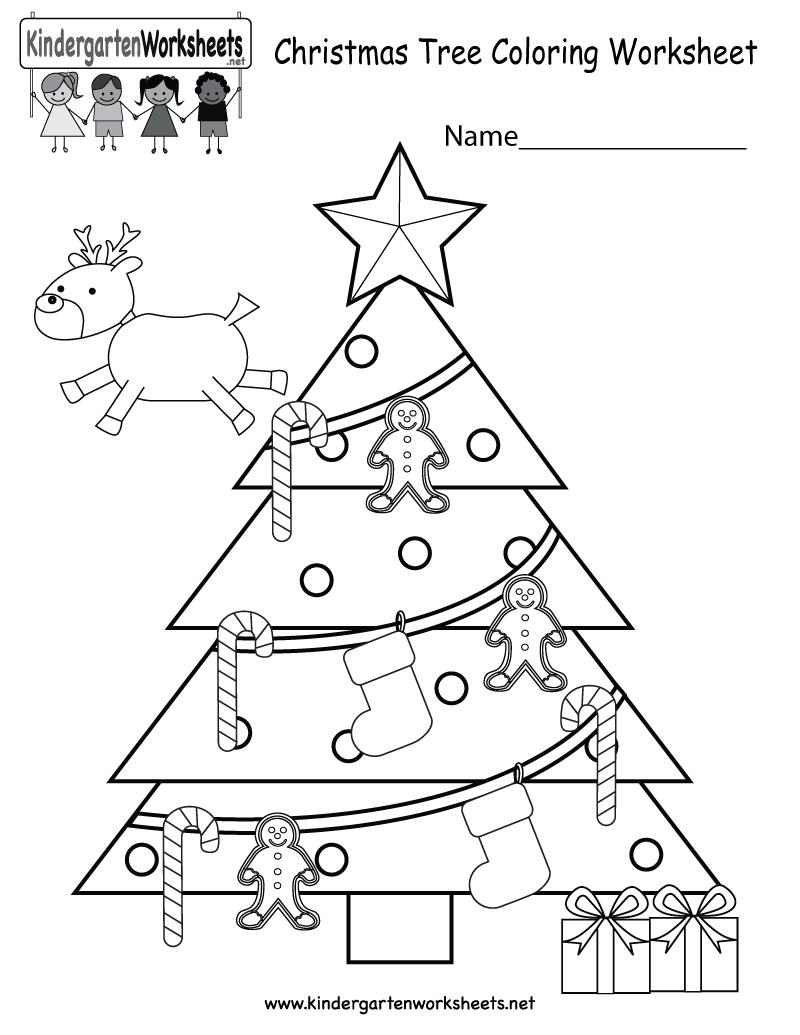 Collection Of Kindergarten Christmas Worksheets Free Printables