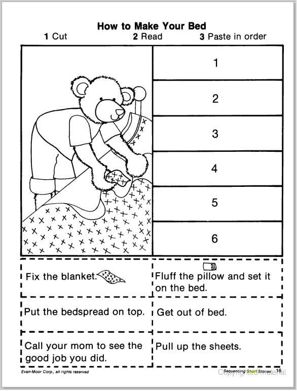 Collection Of Kindergarten Sequencing Worksheets Free