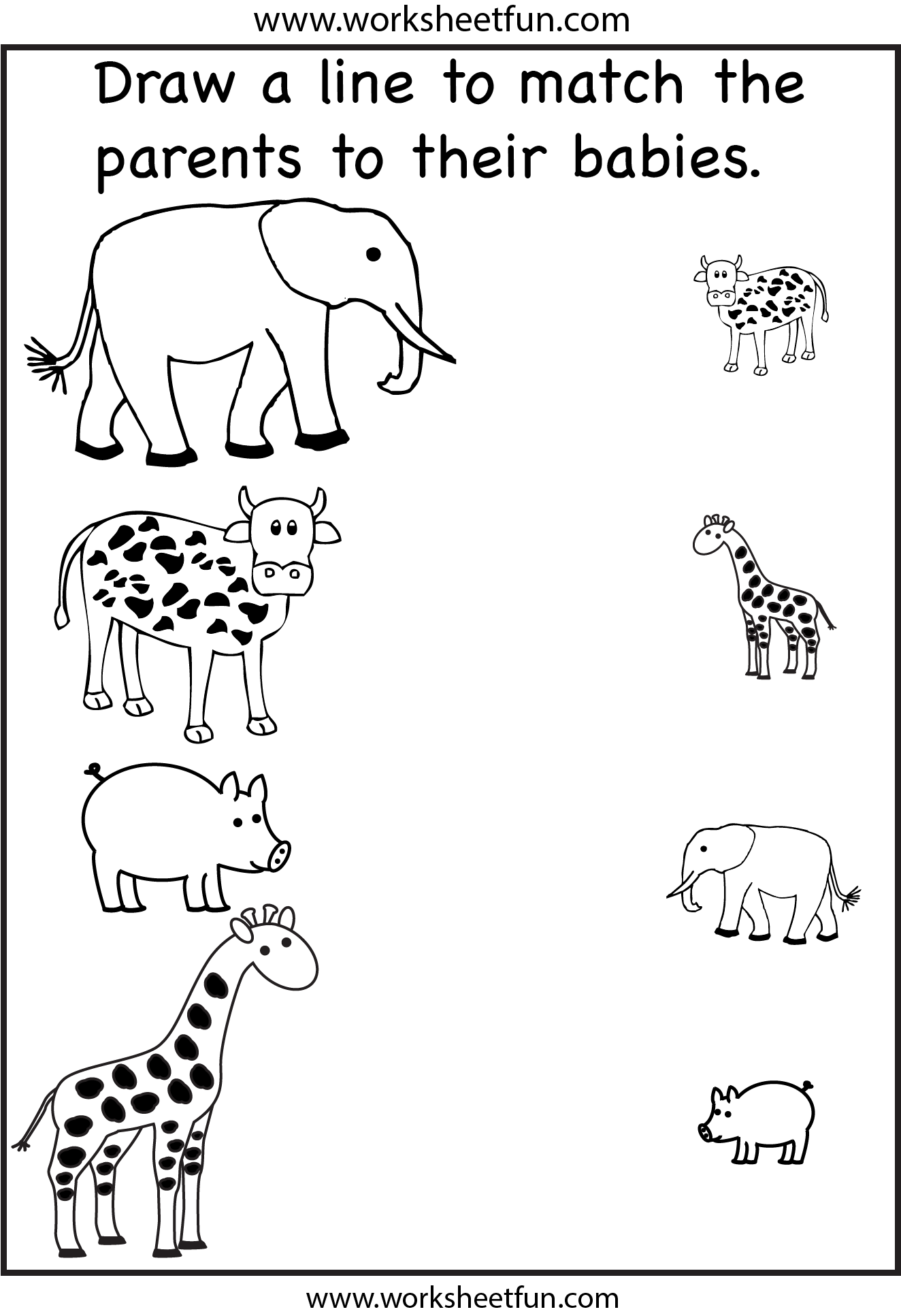 Collection Of Kindergarten Worksheets On Animals