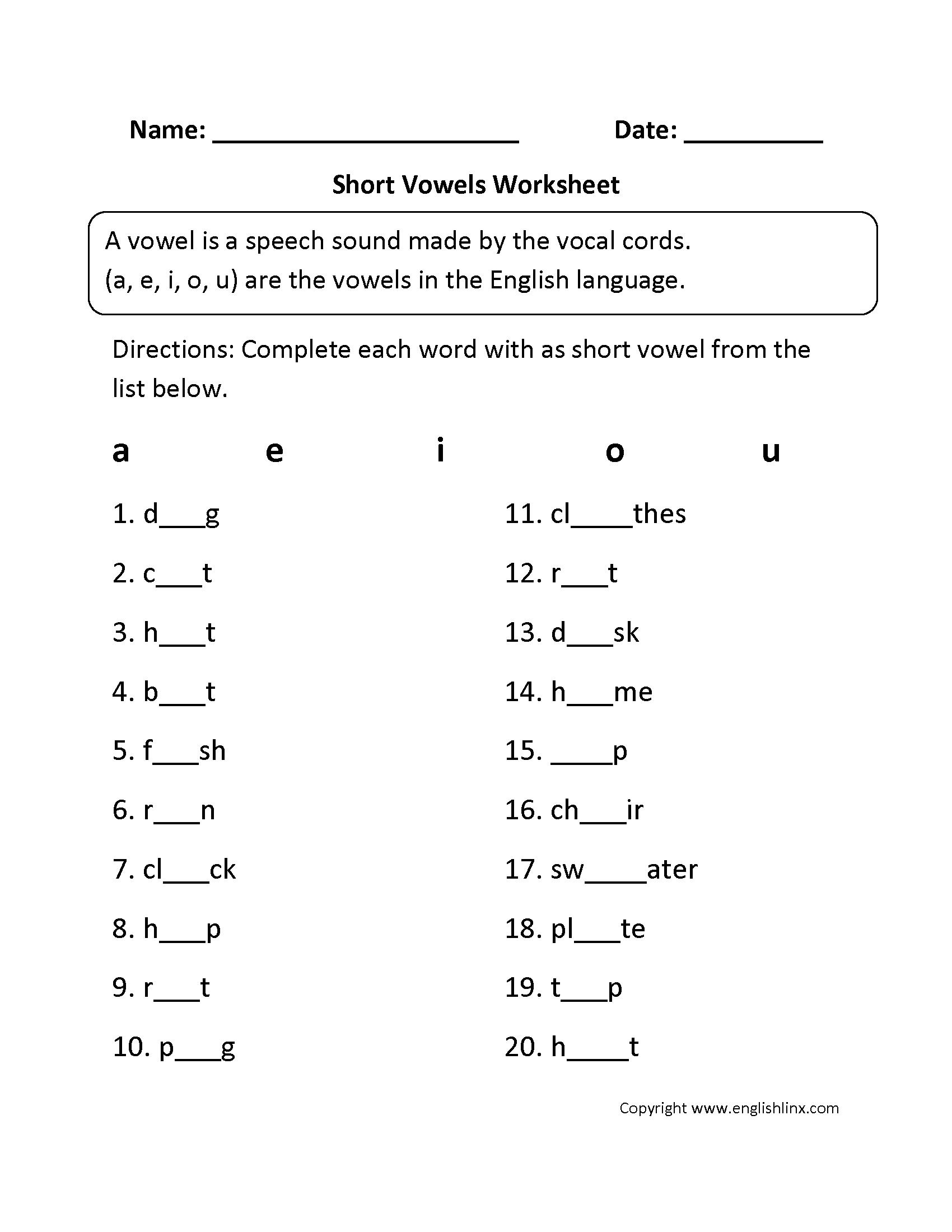 Collection Of Long Vowel A Worksheets Kindergarten
