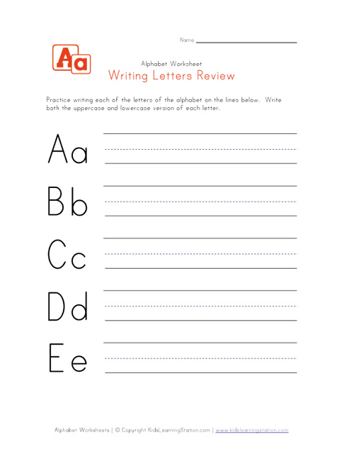 Collection Of Practice Writing Letters Worksheets For Preschool