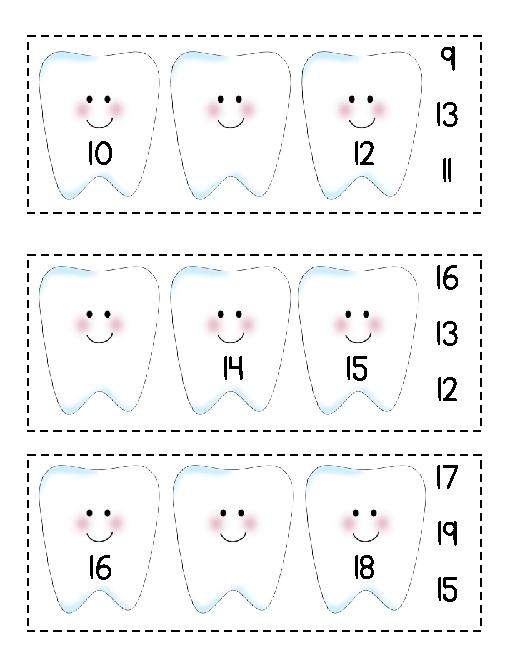 Collection Of Preschool Dental Health Worksheets