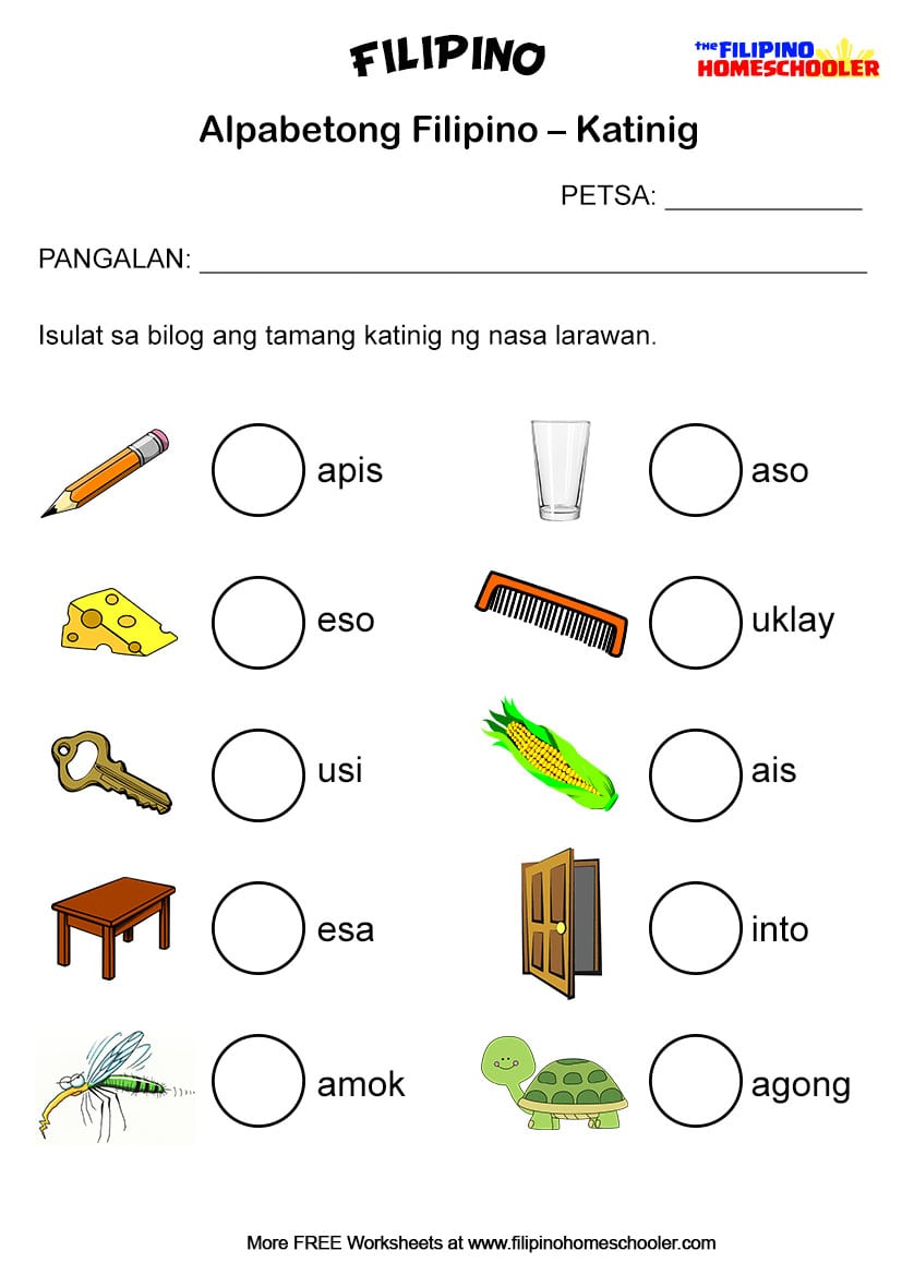 Collection Of Worksheets For Grade 2 In Filipino