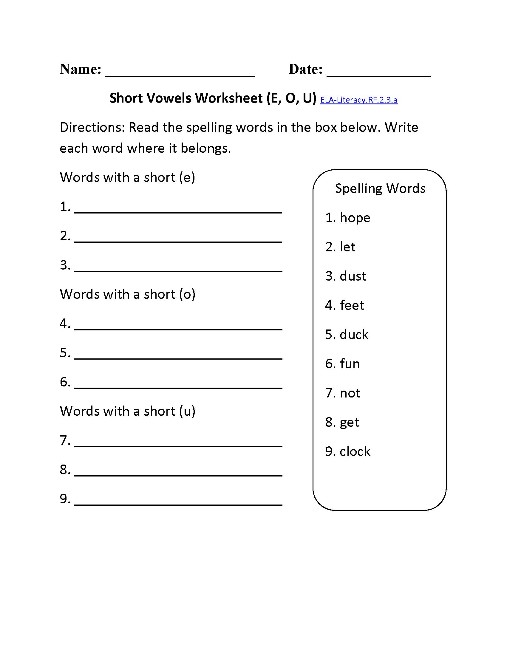 Common Core Phonics Worksheets For Kindergarten 929200