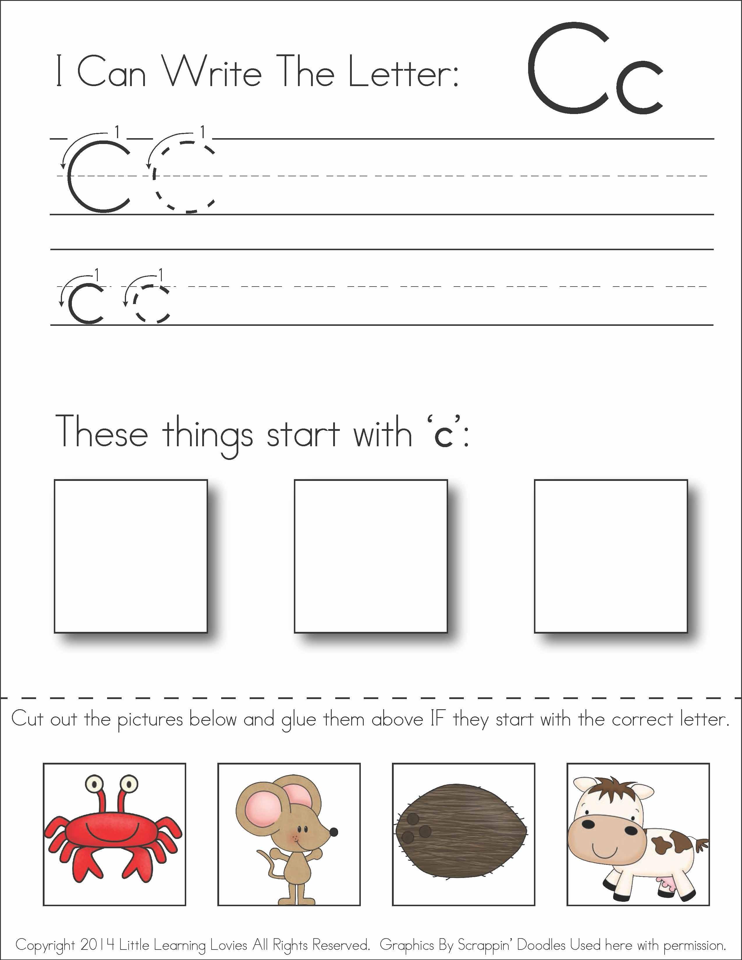 Cut And Paste Letter Worksheets For Kindergarten 241582