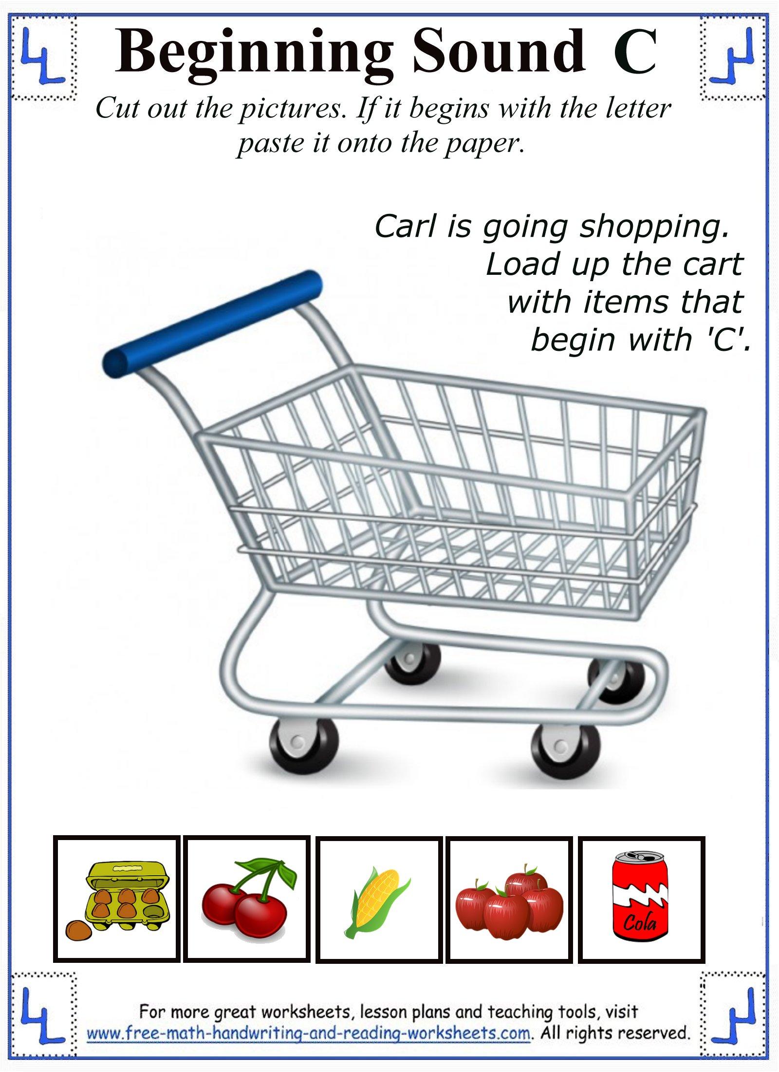 Cut And Paste Worksheets For Kindergarten Alphabet 356515