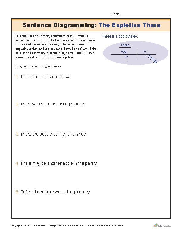 Diagram Sentence Worksheet The Best Worksheets Image Collection