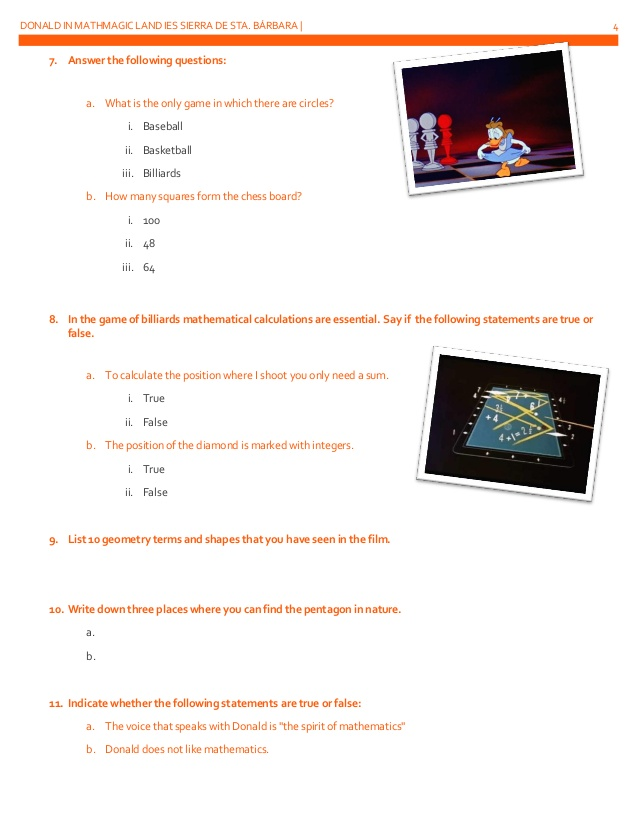 Donald Duck In Mathmagic Land Worksheet The Best Worksheets Image