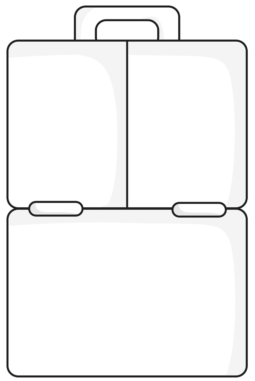 Dorable Lunch Box Template Illustration