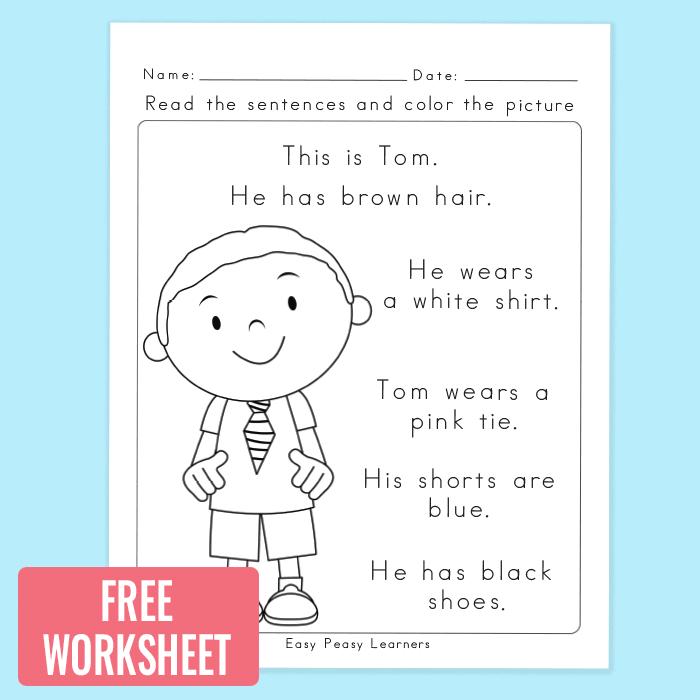 Easy Reading Comprehension Worksheets For Kindergarten 677215