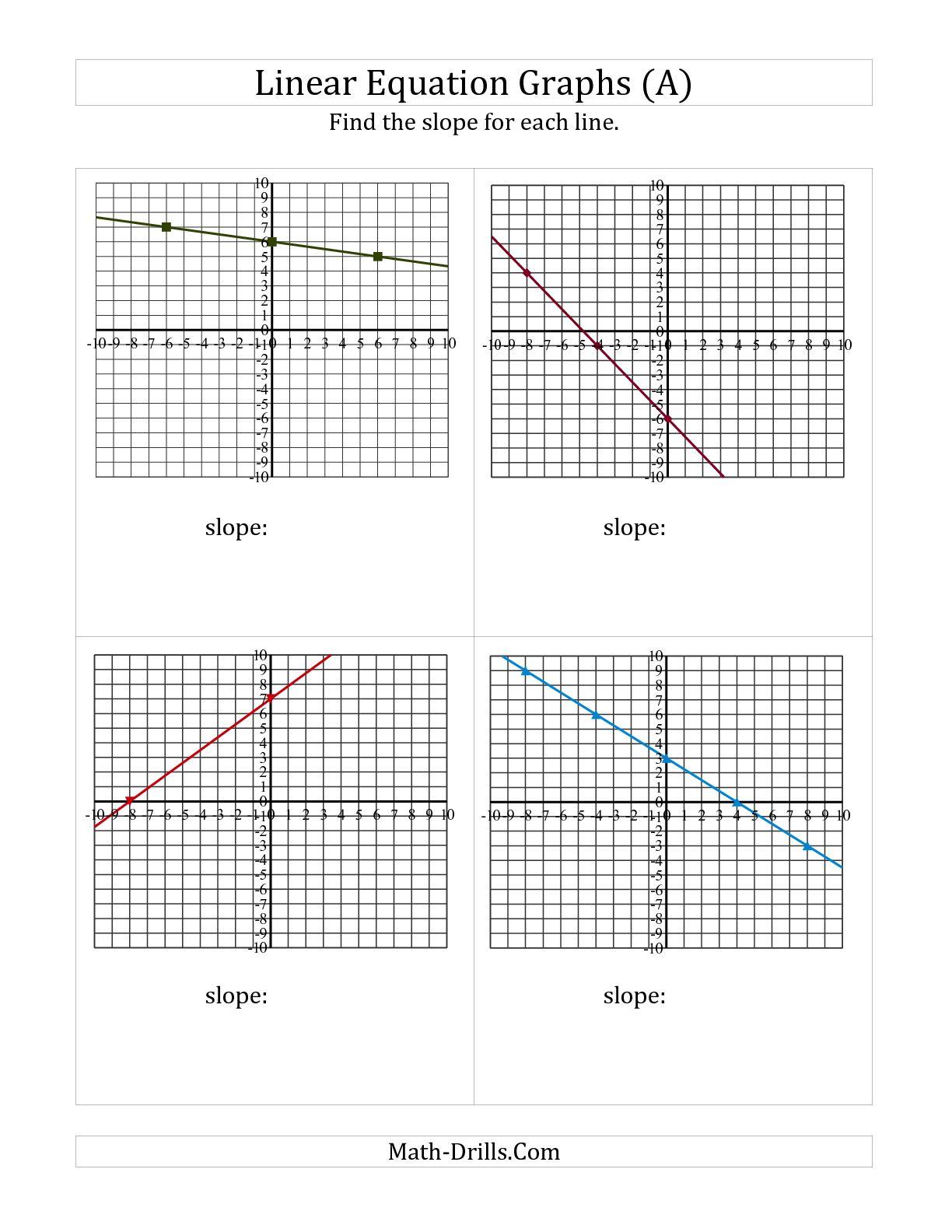 Easy Slope Worksheets The Best Worksheets Image Collection