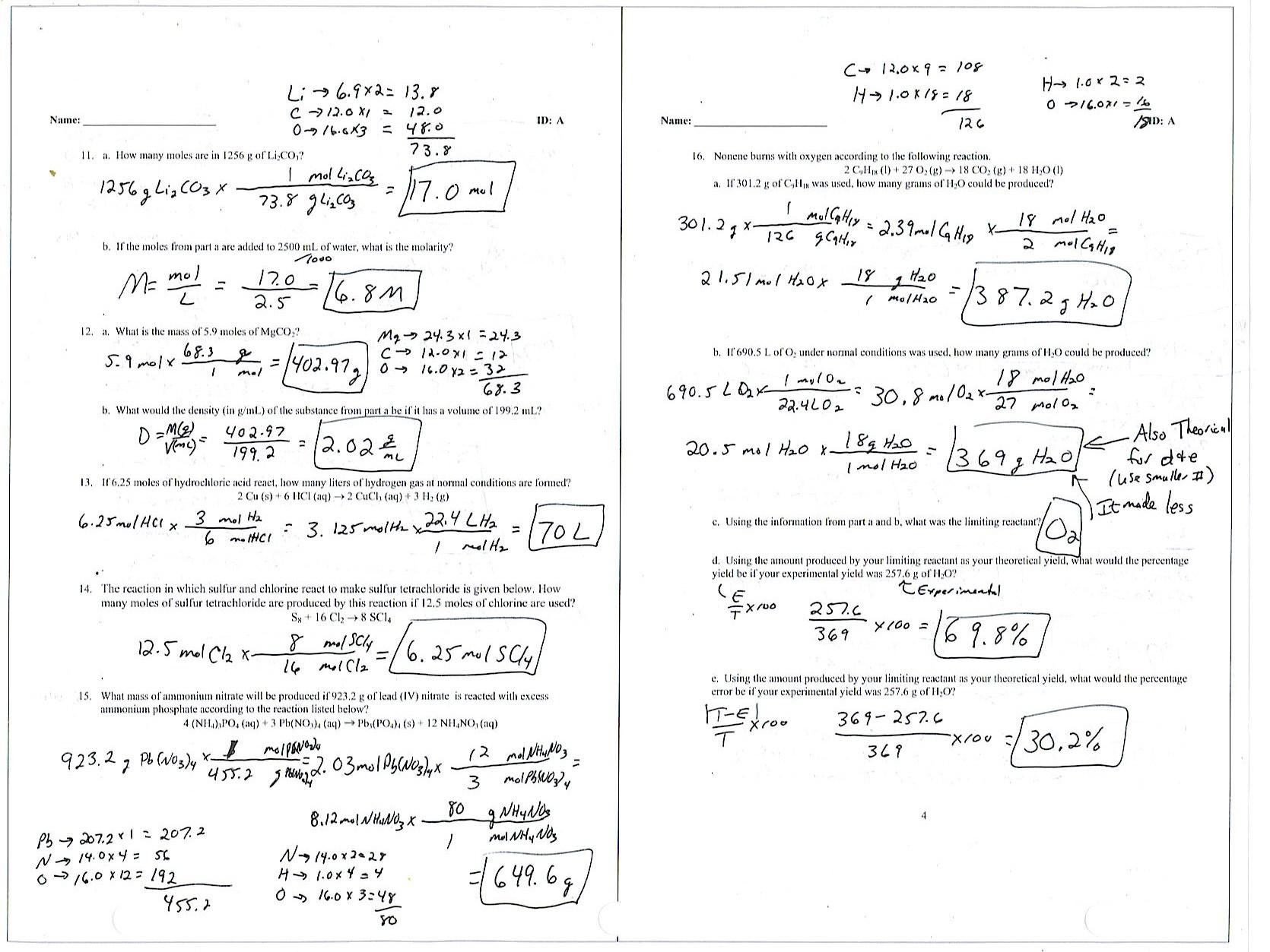 Empirical And Molecular Formula Worksheet Answers Careless ...