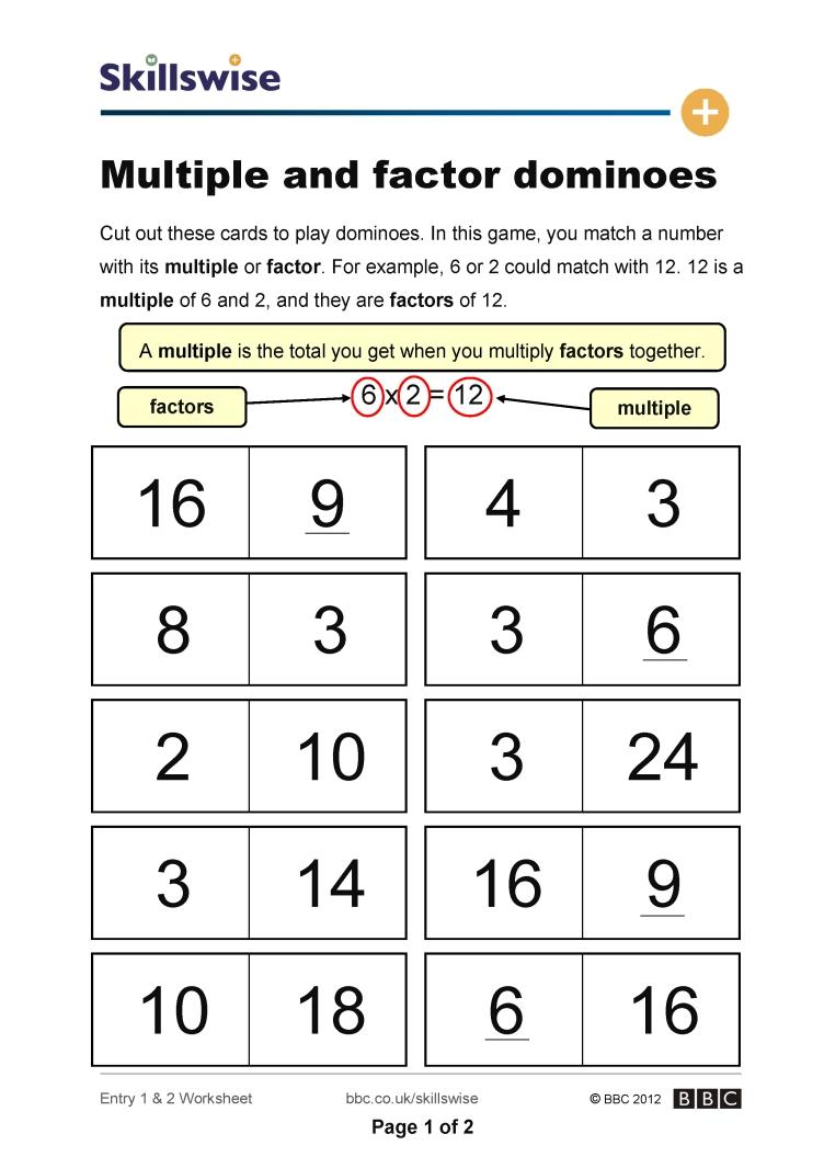 Factor And Multiple Worksheets The Best Worksheets Image