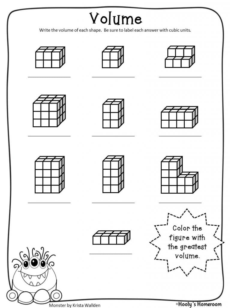 Famous 7th Grade Math Volume Worksheets Best Images Of Sound For