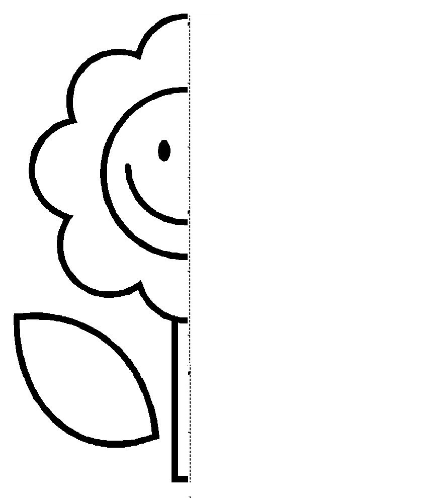 Flower Symmetry Activity Coloring Pages Cole Pinterest Worksheets
