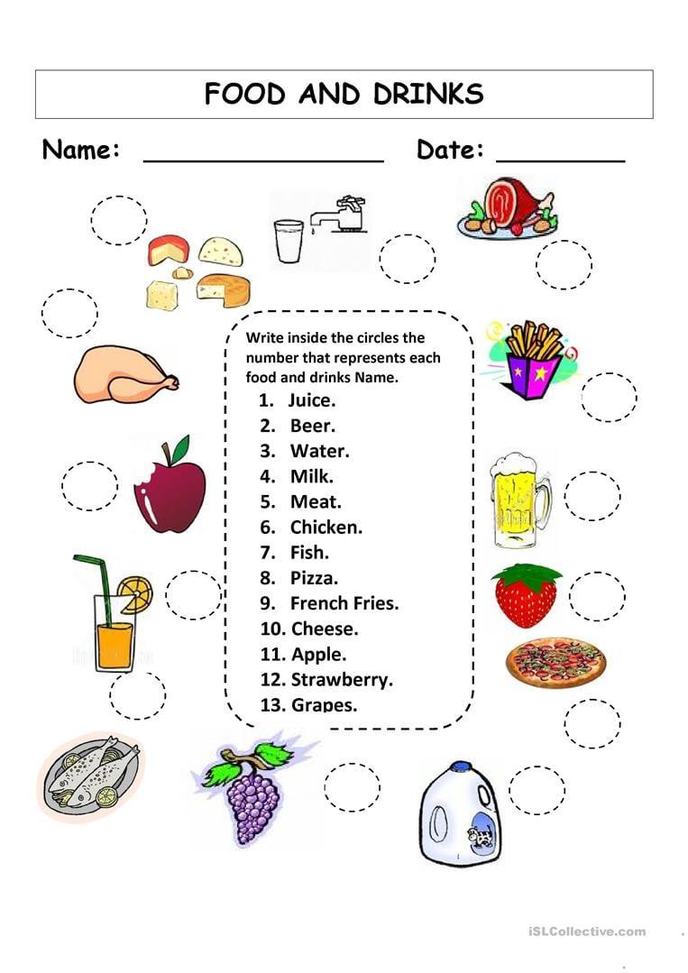Food Worksheets For Grade 1 Gallery