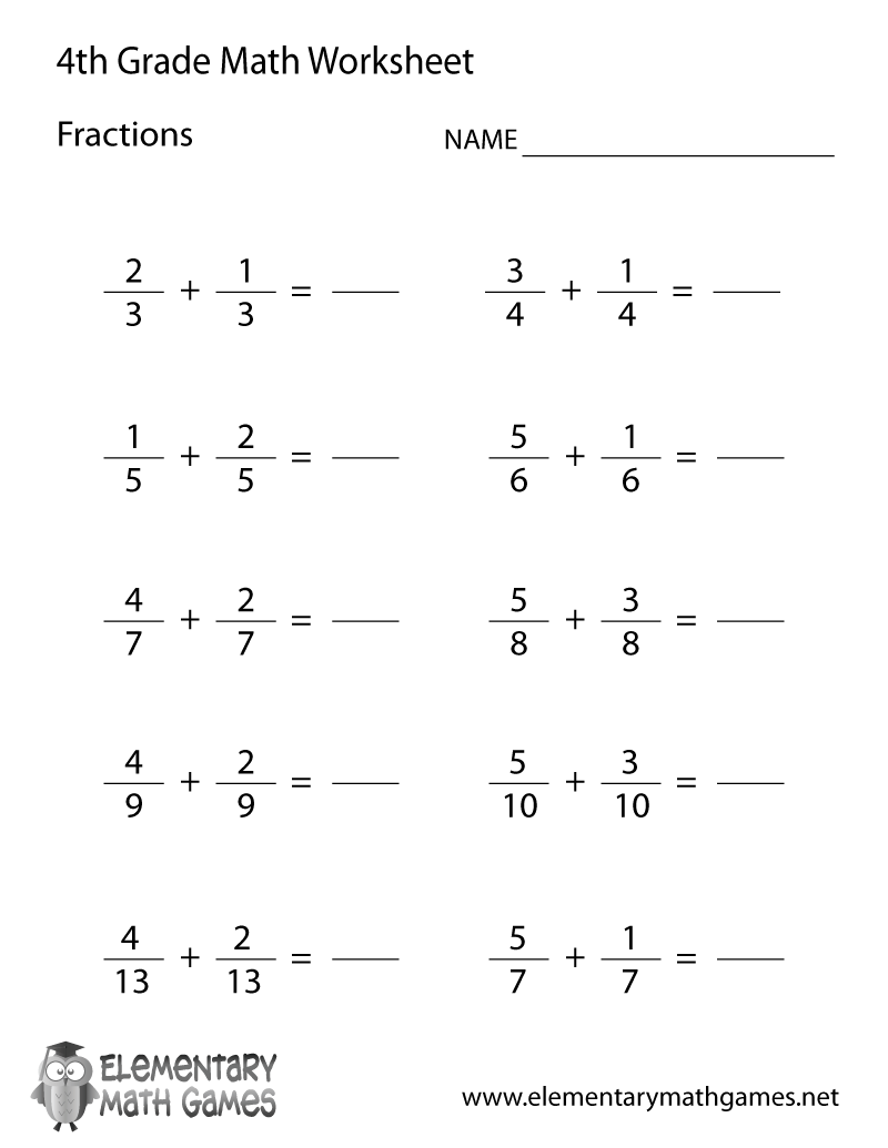 Fourth Graders Have To Solve 10 Easy Fraction Problems With This