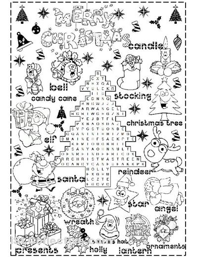Free Printable Christmas Worksheets The Best Worksheets Image