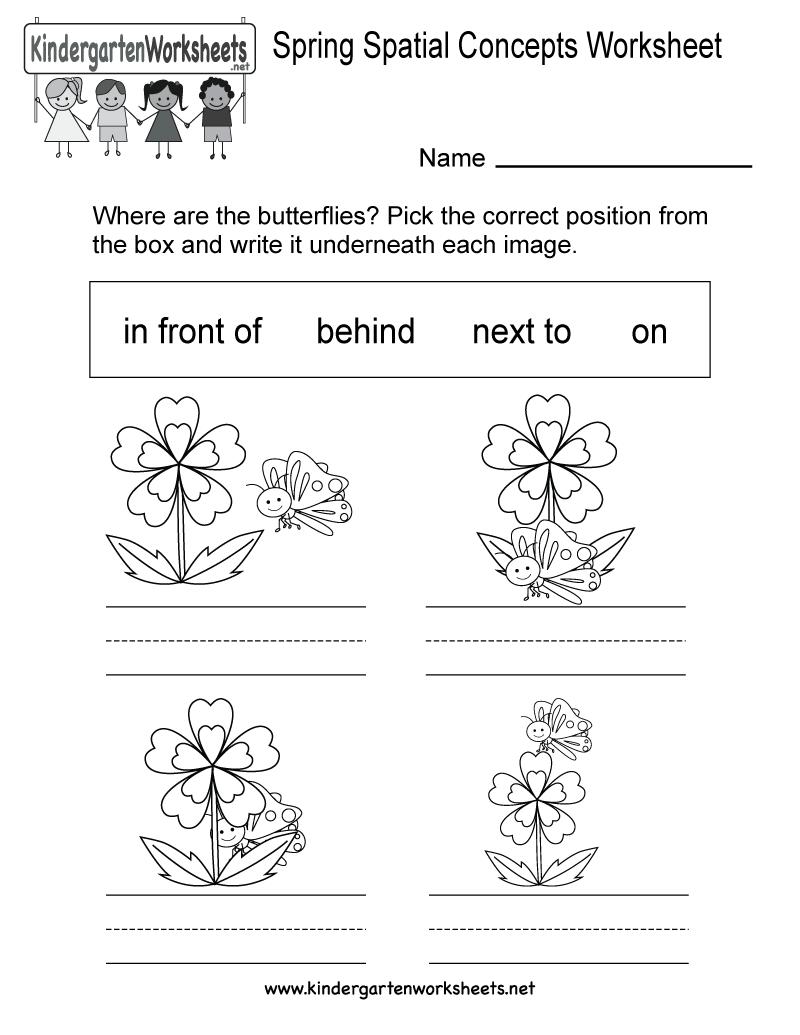 Free Printable Position Worksheets For Kindergarten 696521