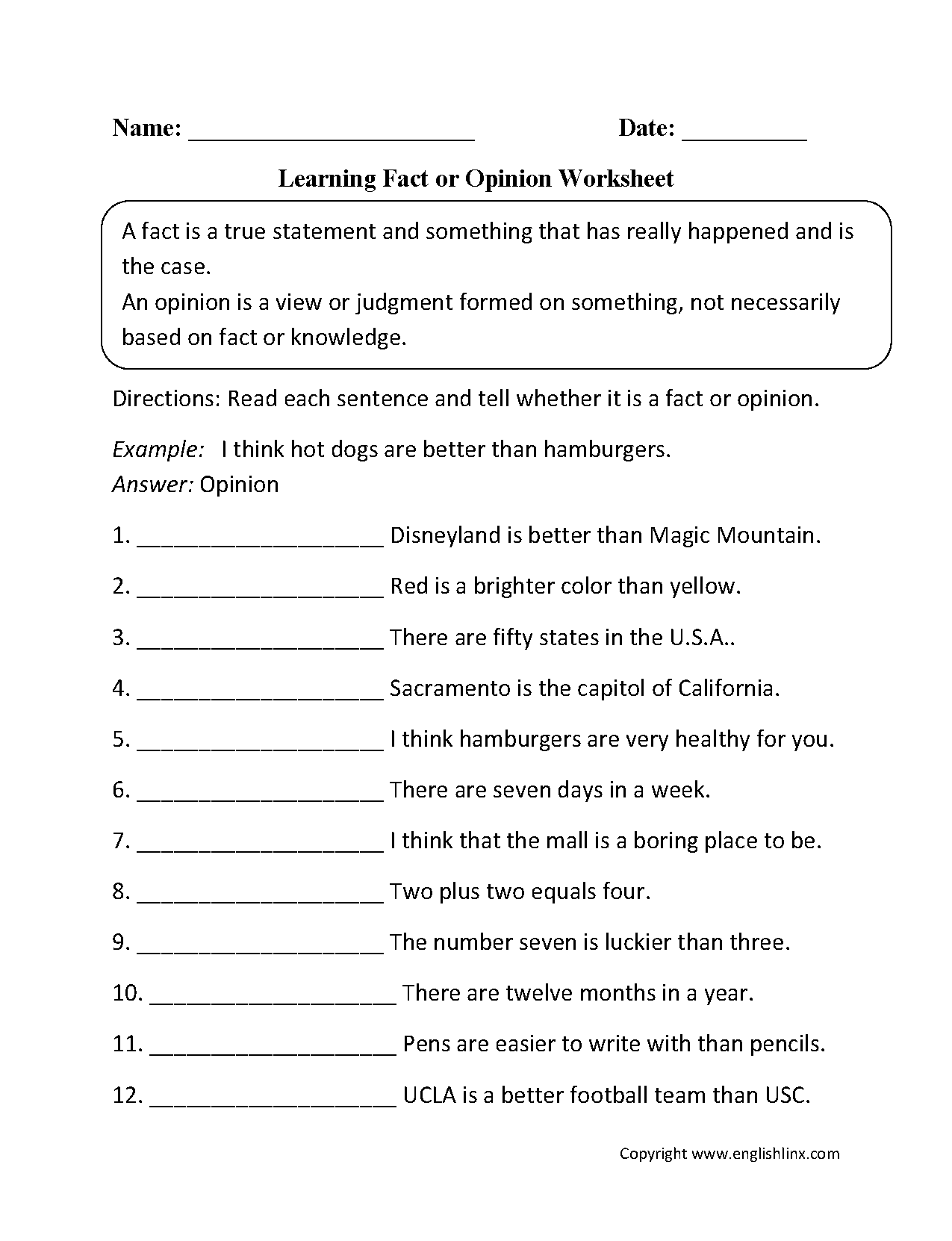 Giving Opinion Worksheet Choice Image