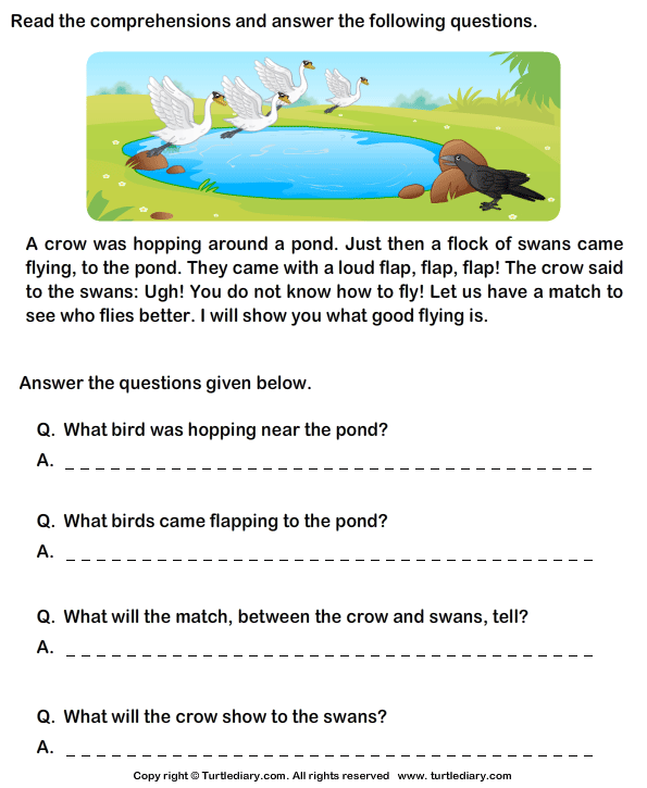 Grade 1 Stories For Reading Comprehension 690535