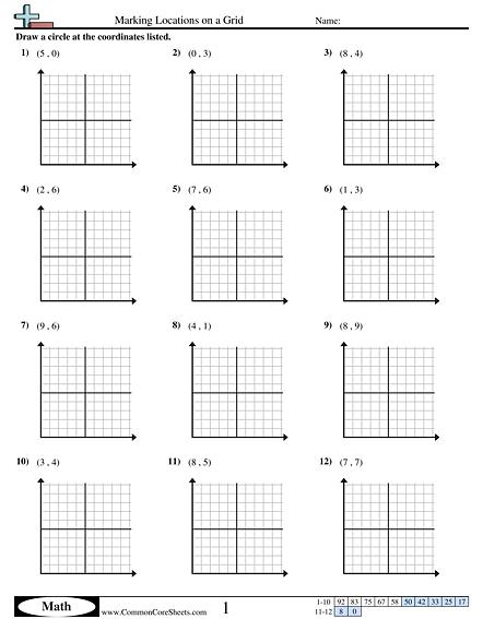 Grade 3 Math Grids Worksheets 1192661