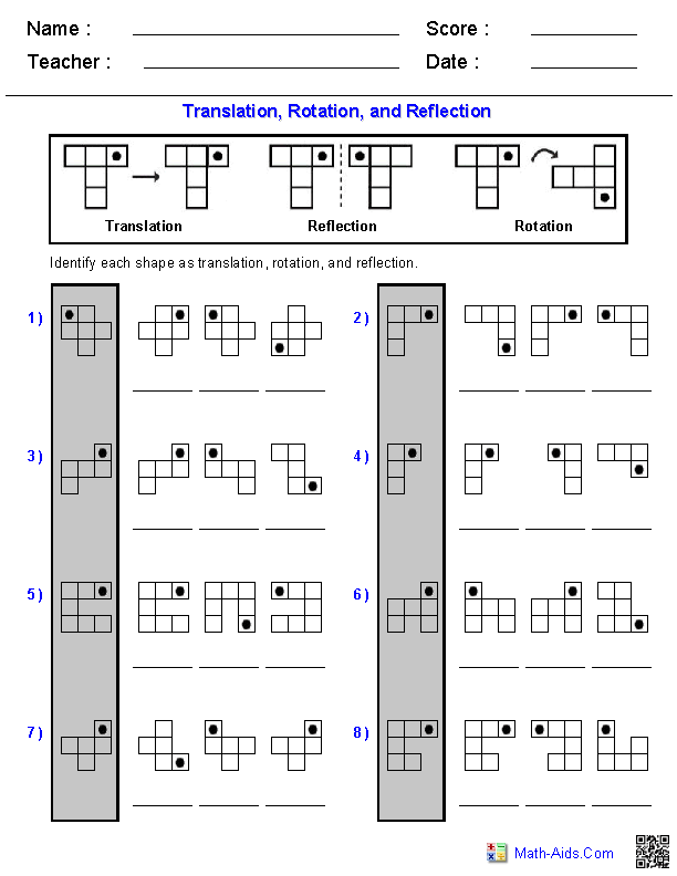 Grade 7 Math Rotation Worksheets 796588