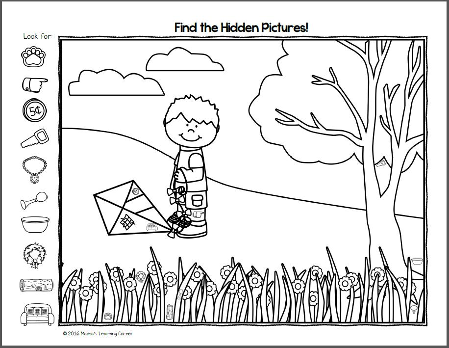 Hidden Letter Worksheets Preschool 598039