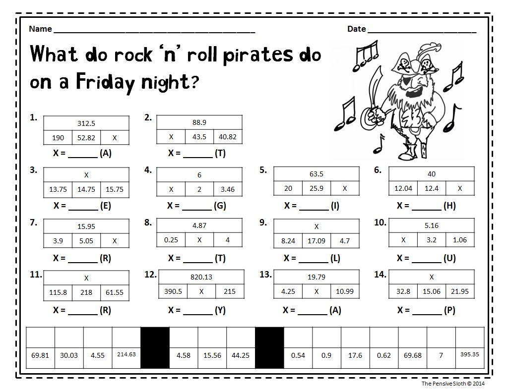 Kindergarten  Talk Like Pirate Day Math Freebie With Tapestrip