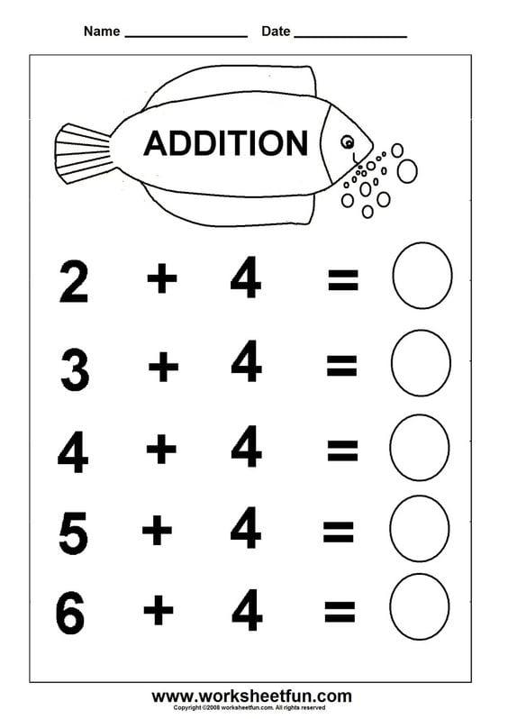 Kindergarten Worksheets English Free Printables 539146