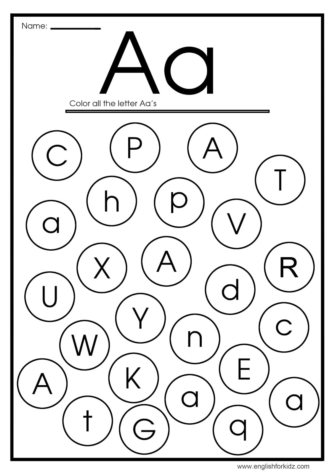 Letter A Worksheets, Flash Cards, Coloring Pages