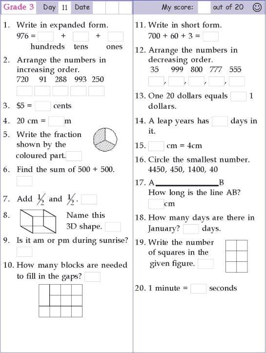 Math Worksheets For Grade 11 819278