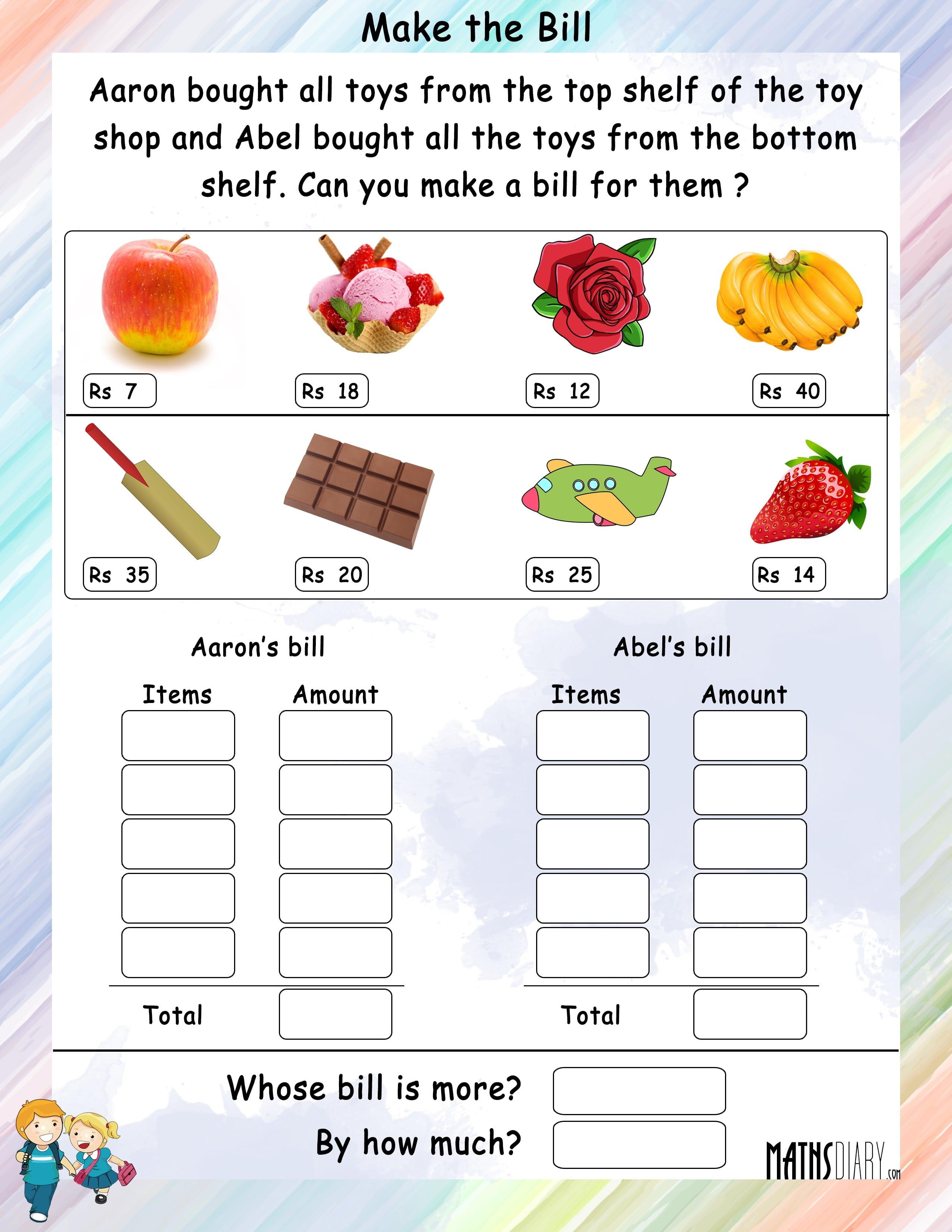 Math Worksheets Grade 3 Money 151377