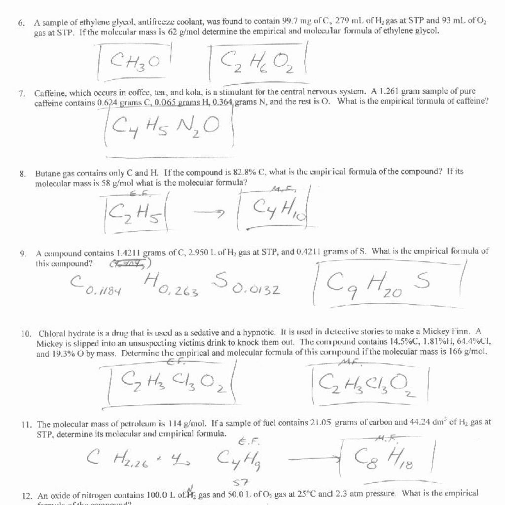 Molecular Formula Worksheet Scatter Graph To Math Quadrants