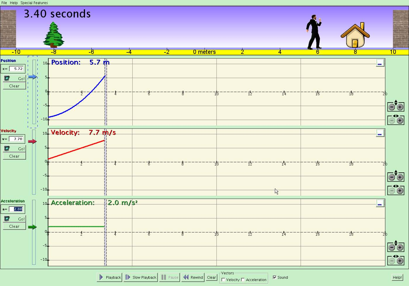 Motion Concepts  Displacement, Velocity, & Acceleration Graphs