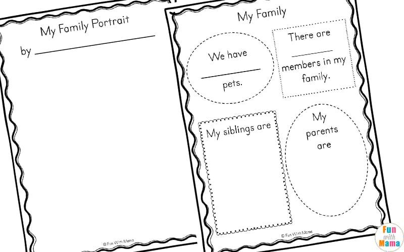 My Family Worksheets For Kindergarten 752817