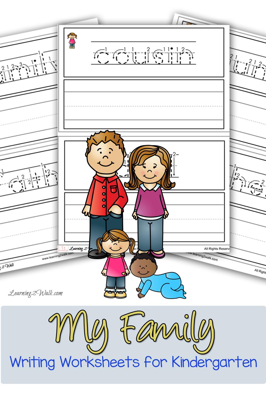 My Family Writing Worksheets For Kindergarten