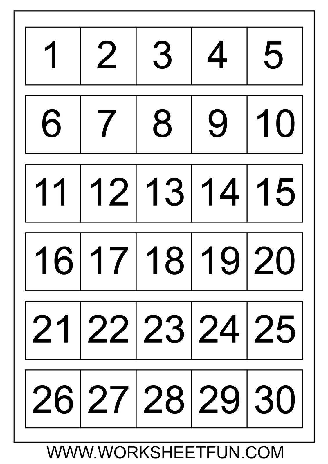 Numbers 1 30 Worksheet The Best Worksheets Image Collection