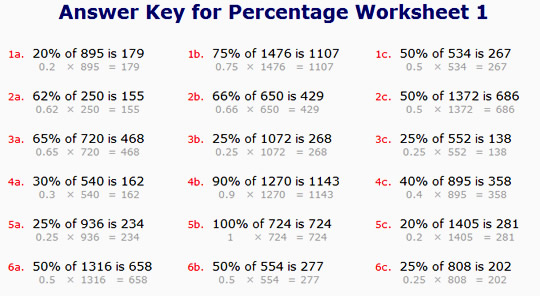 Percent Worksheets With Answers The Best Worksheets Image