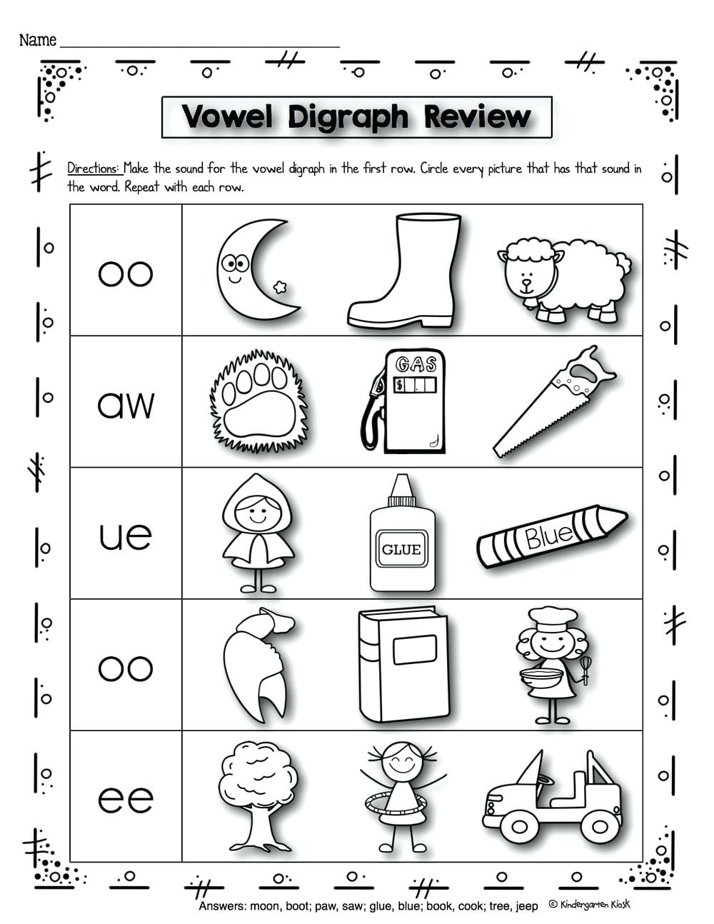 Phonics Worksheets Activities Phonics Prep Vowel And Worksheets