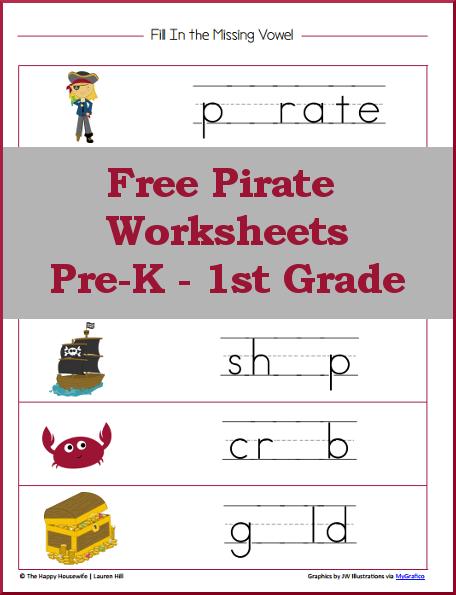 Pirate Worksheets For Preschool 293268