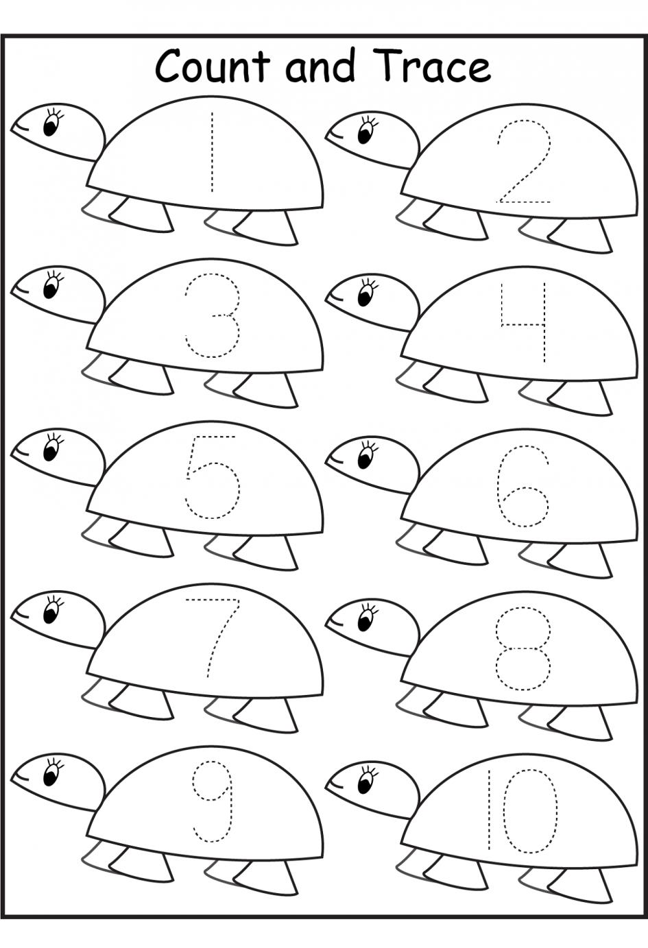 Pre K Number Tracing Worksheets The Best Worksheets Image