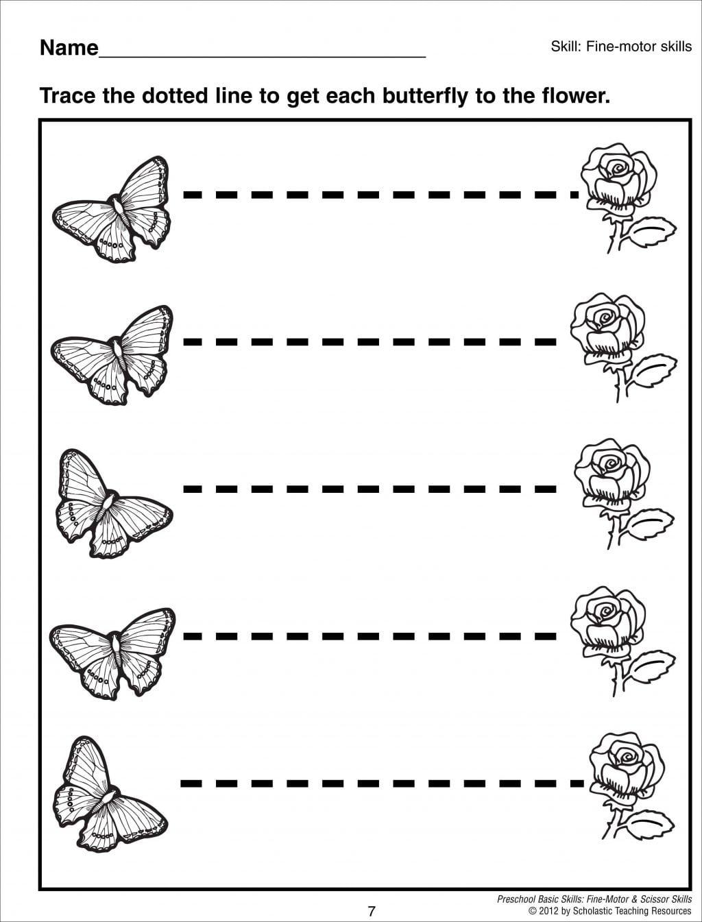 Pre K Tracing Lines Worksheets For Kindergarten Printable Line
