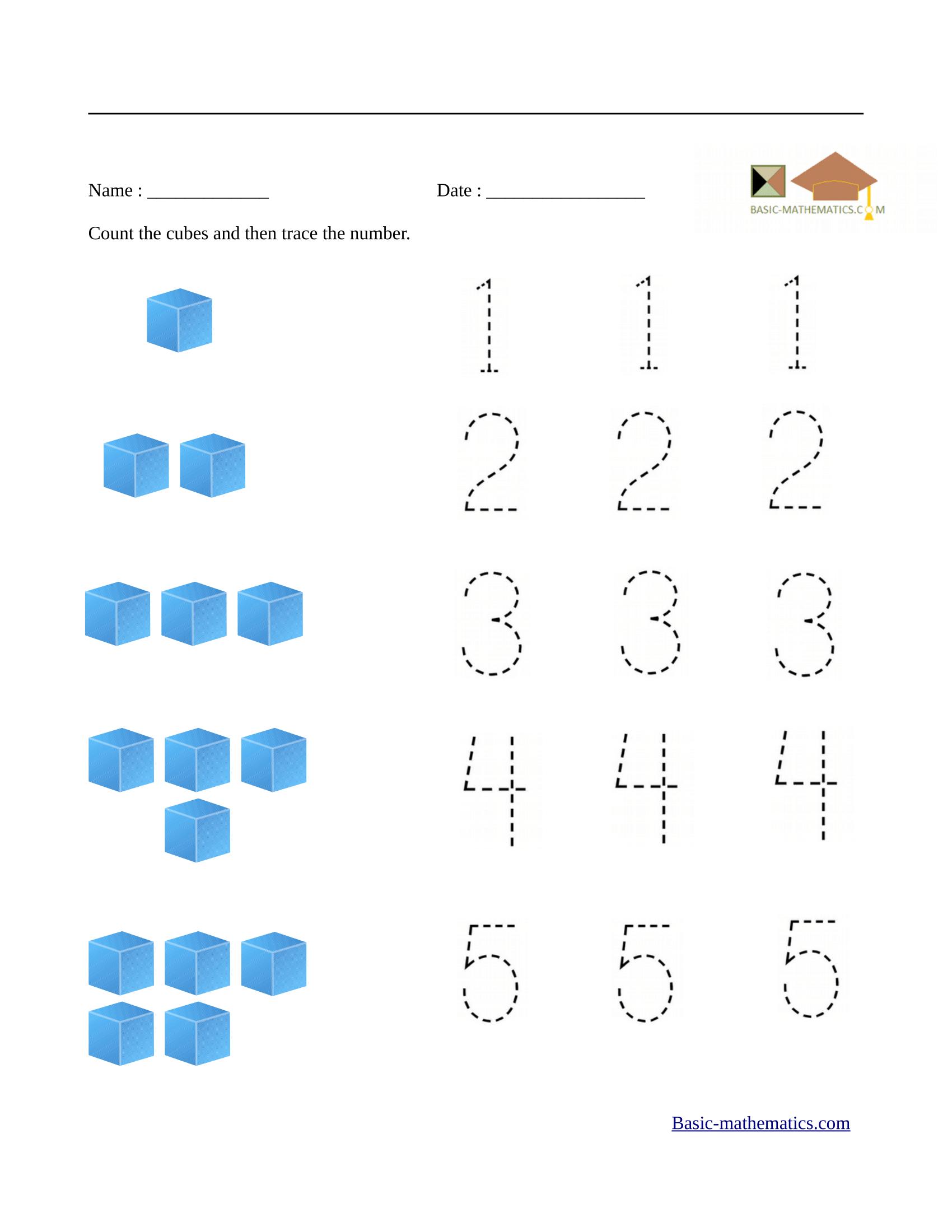 Preschool Basic Math Worksheets 742238