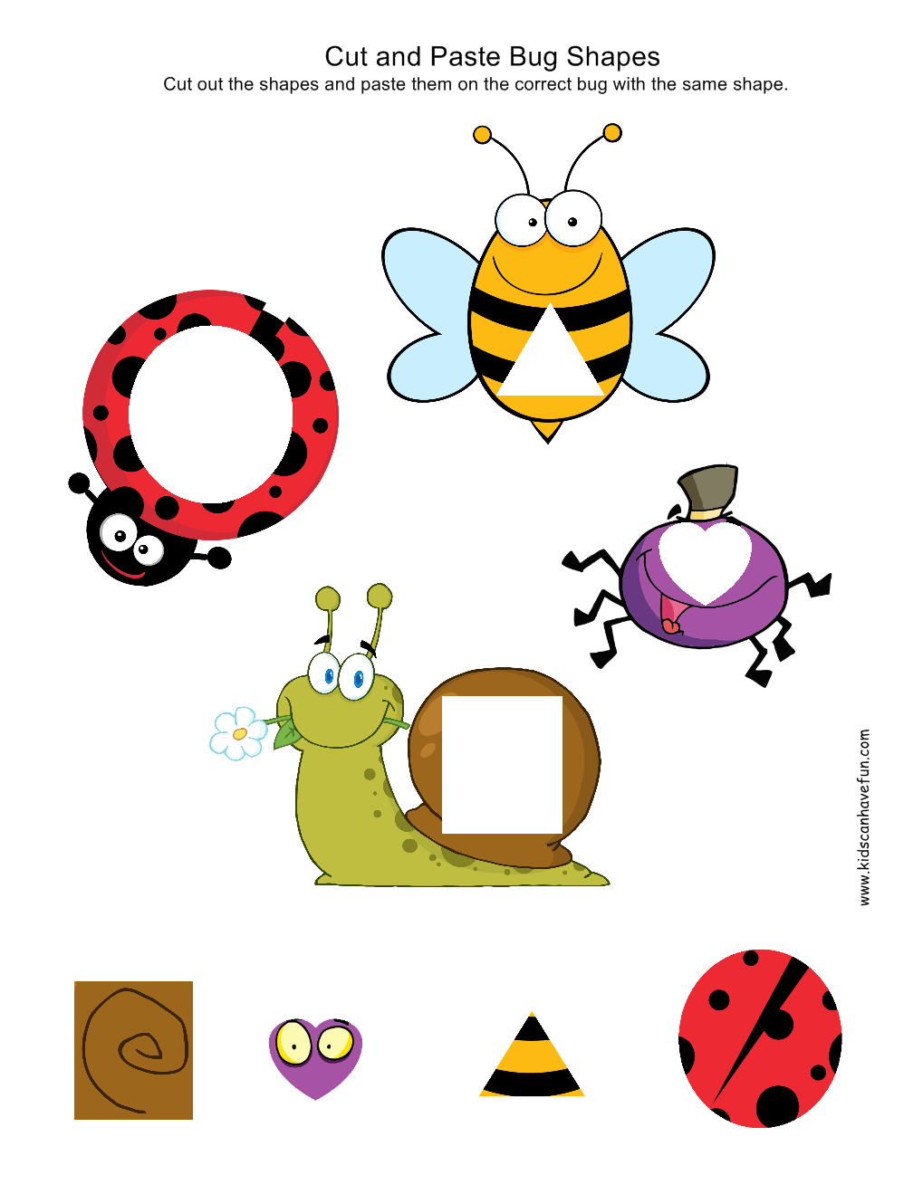 Preschool Color Cut And Paste Worksheets 347571